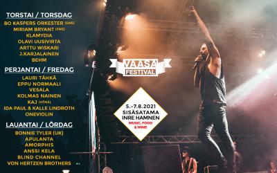 Euroviisuedustaja Blind Channel sekä Klamydia kiinnitetty tulevan kesän Vaasa Festivaliin!